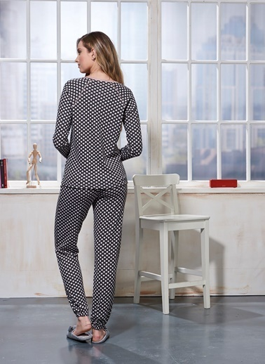 Sevim Pijama Takım Antrasit